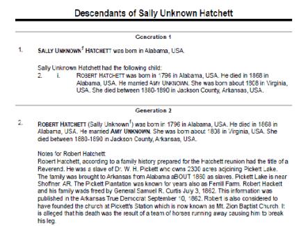 descendants