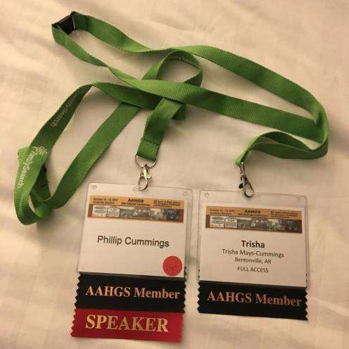 AAHGS badges